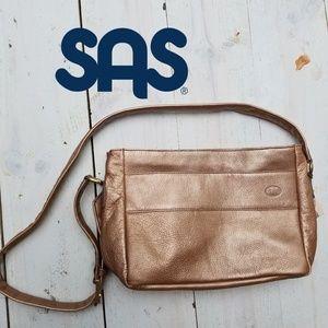 NWT  SAS leather shoulder bag